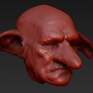 Goblin head design in ZBrush